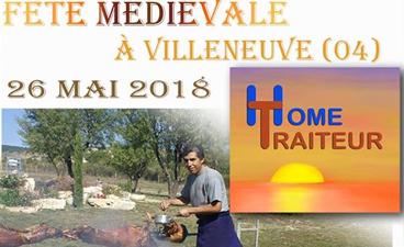 Méchoui pour la fête médiévale de Villeneuve !